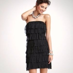Ann Taylor Fringe LBD Little Black Dress NWT 8